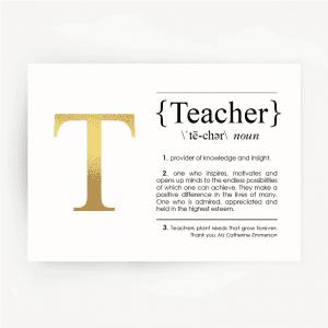 teacher-definition-foil-print