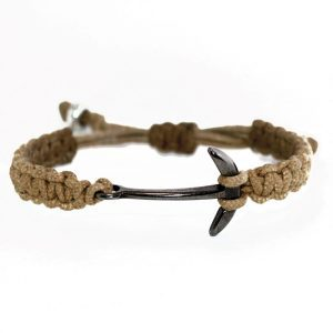 ANCHOR BRACELET – LIGHT BROWN