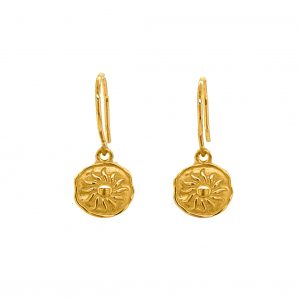 Earrings-silver-925-yellow-gold-plated