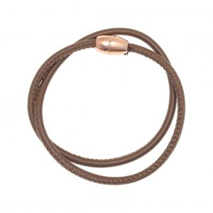 Leather-Bracelet-pink-gold-plated-with-magnetic-clasp-