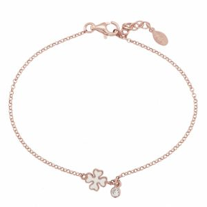 Bracelet-silver-925-pink-gold-plated-with-enamel-and-white-zirconia