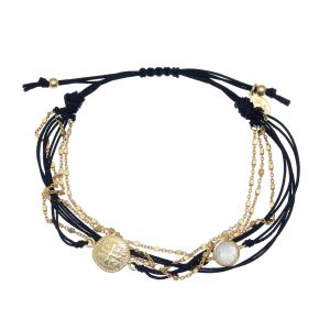 Bracelet-silver-925-gold-plated-with-moonstone-and-cord