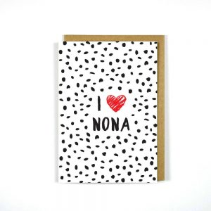 GREEK MOTHER'S DAY CARD I HEART NONA