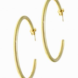 Earrings-in-silver-925-yellow-gold-plated–diameter-4-5-cm-0-3-cm-thick-