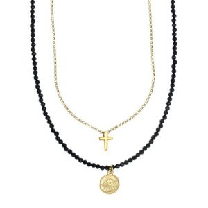 Necklace-in-silver-925-yellow-gold-plated-with-gem-stones