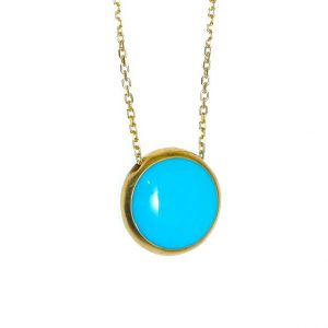 Necklace-silver-925-yellow-gold-plated-with-enamel