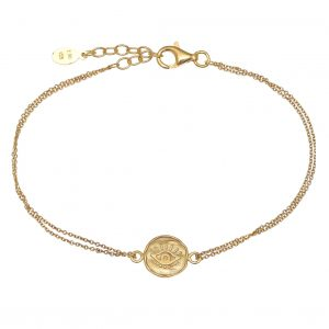 Bracelet-silver-925-yellow-gold-plated