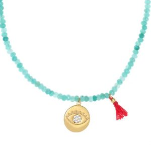 Necklace-silver-925-yellow-gold-plated-with-synthetic-stones