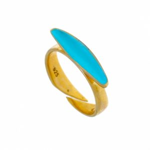 Ring-silver-925-yellow-gold-plated-with-enamel