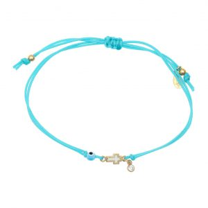 Bracelet-silver-925-gold-plated–with-enamel–evil-eye-and-white-zircon-with-cord (2)