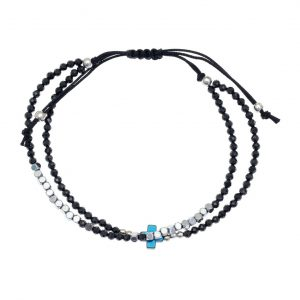 Bracelet-silver-925-rhodium-plated-with-onyx