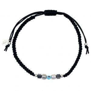 Cord-bracelet-in-silver-925-rhodium-plated-with-hematite