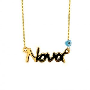 Necklace-silver-925-gold-plated-with-evil-eye