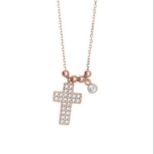 Necklace-silver-925-pink-gold-plated-with-white-zirconia