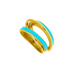 Ring-silver-925-gold-plated-with-enamel