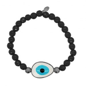 Bracelet-silver-925-black-gold-plated-&-with-enamel-evil-eye