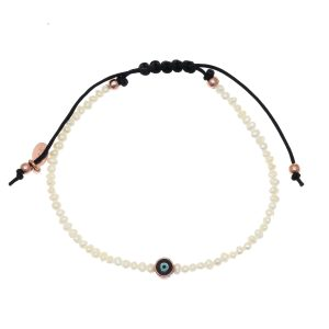 Bracelet-silver-925-rose-gold-plated-&-with-enamel-evil-eye—-with-cord
