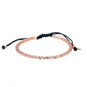 Bracelet-silver-925-rose-gold-plated-with-cord