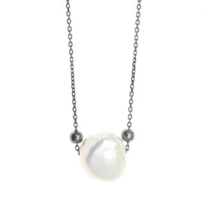Necklase-in-silver-925-blasck-rhodium-plated-with-pearl