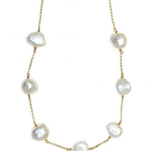 Necklase-in-silver-925-yellow-gold-plated-with-pearls