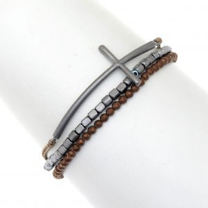 Bracelet-silver-925-black-rhodium-plated-&-with-hematite
