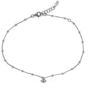 Foot-chain-silver-925-rhodium-plated-with-zirconia