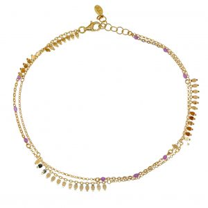 Foot-chain-silver-925-yellow-gold-plated