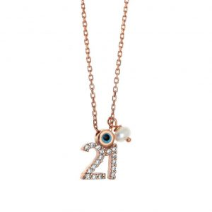 Necklace-silver-925-rose-gold-plated-with-zirconia