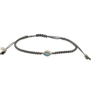 Bracelet-silver-925-black-rodium-plated-with-tyrqoise-zirconia-and-cord